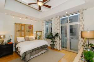 12 South Lexington Ave #301 -Bedroom with Juliette balcony