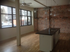 Rankin Press Interior With Original Brick