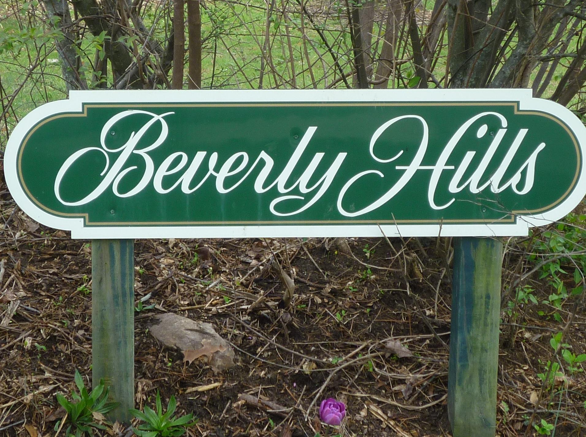 Beverly Hills 28805 Neighborhood Sign