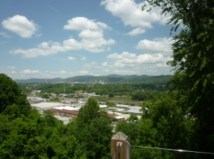 View of Asheville fro Grandview Deck