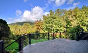 Deck with mtn view